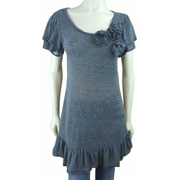 Anthropologie Dresses & Skirts - Anthropologie Blue Bird Sweater Dress MD Babydoll
